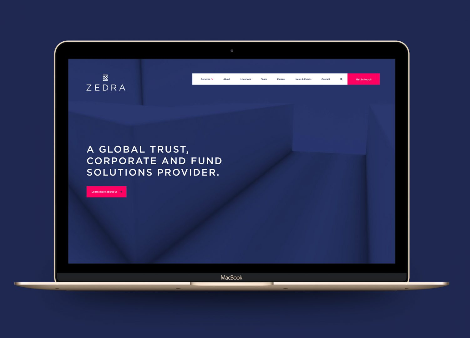 Zedra-homepage-macbook