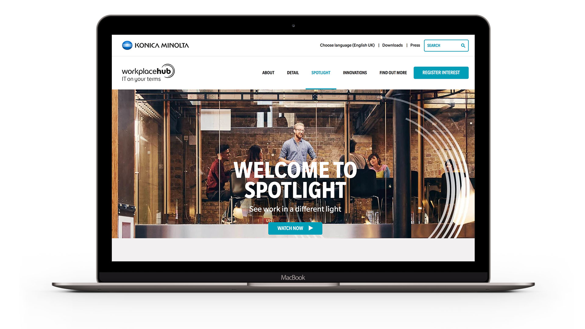 22 Group Manchester did a web design for Konica Minolta